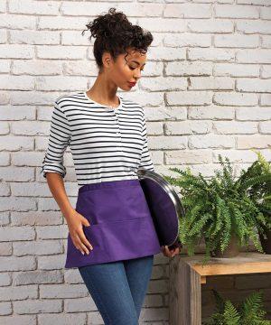 Premier Colours Three Pocket Waist Apron PR155 Purple Colour