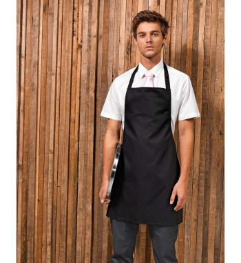 Premier Essential Bib Apron Without Pocket PR165 Black Colour