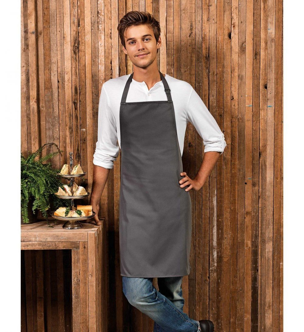PPG Workwear Premier Polyester Bib Apron PR167 Dark Grey Colour