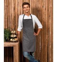 PPG Workwear Premier Polyester Bib Apron PR167 Dark Grey Colour