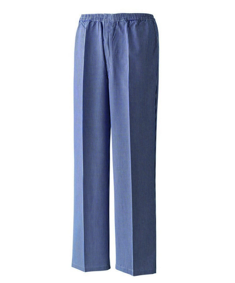 PPG Workwear Premier Pull On Blue Check Chefs Trousers PR552