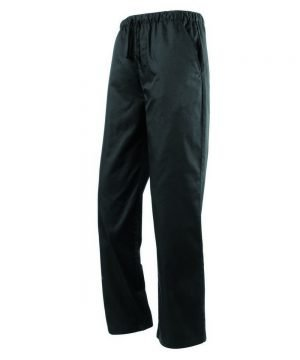 Premier Essential Black Chefs Trousers PR553