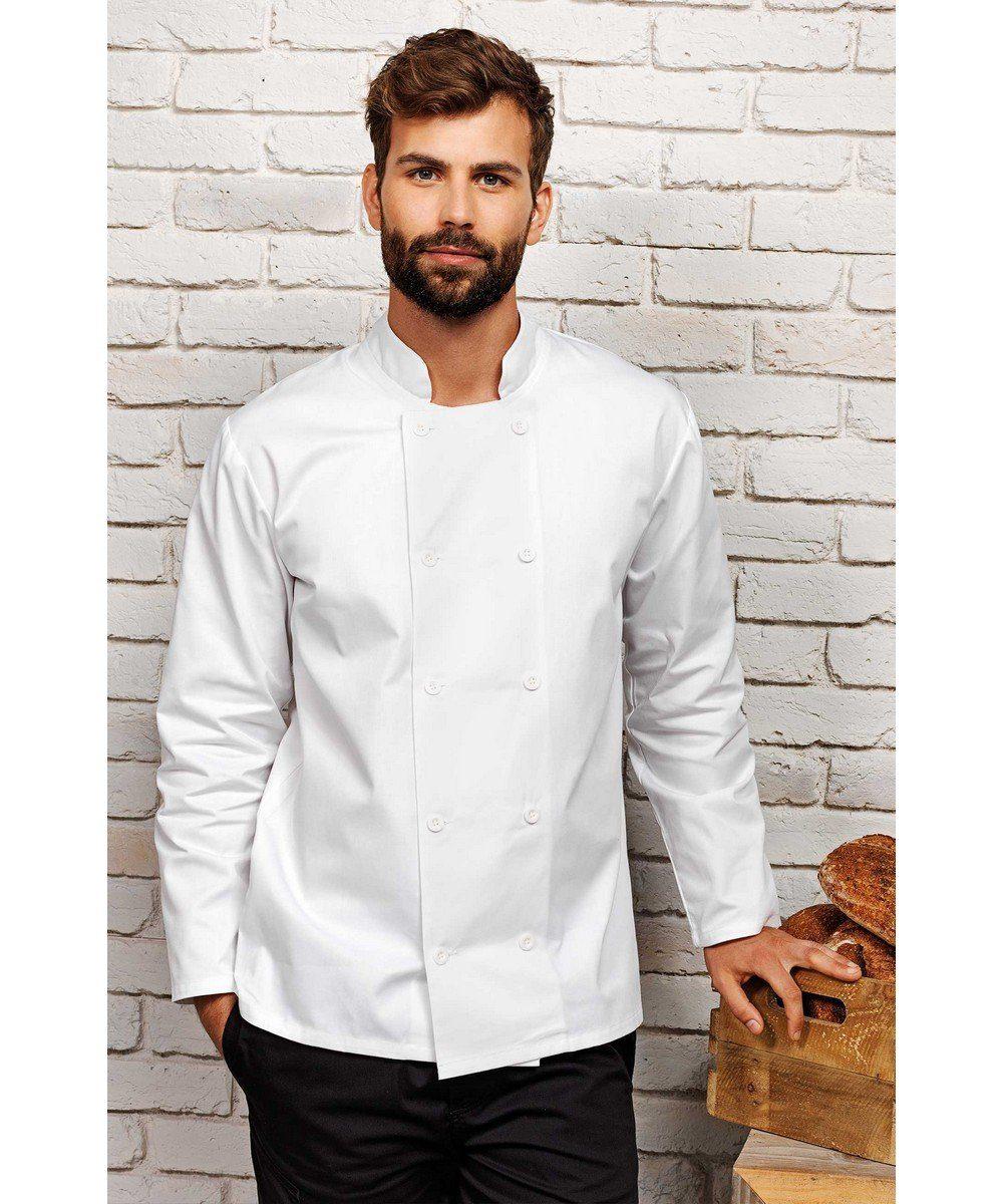 PPG Workwear Premier Long Sleeve Chefs Jacket PR657 White Colour