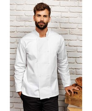 PPG Workwear Premier Long Sleeve Chefs Jacket PR657 White Colour