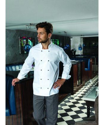 Premier Cuisine Long Sleeve Chefs Jacket PR661 White Colour with Long Sleeves