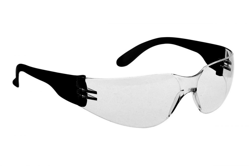 PPG Workwear Portwest Wrap Around Safety Spectacle PW32 Clear Black Colour