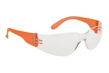 PPG Workwear Portwest Wrap Around Safety Spectacle PW32 Clear Orange Colour