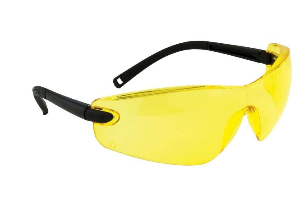 PPG Workwear Portwest Profile Safety Spectacle PW34 Amber Colour