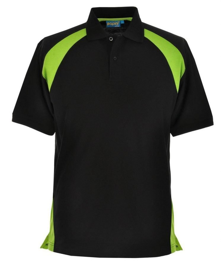 Papini Elite Polo Shirt EL1 Black and Lime Colour