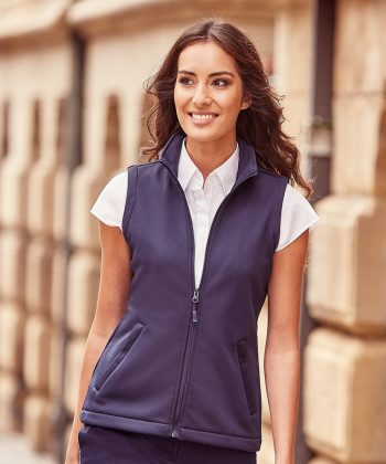 PPG Workwear Russell Ladies Smart Softshell Gilet R041F French Navy Colour