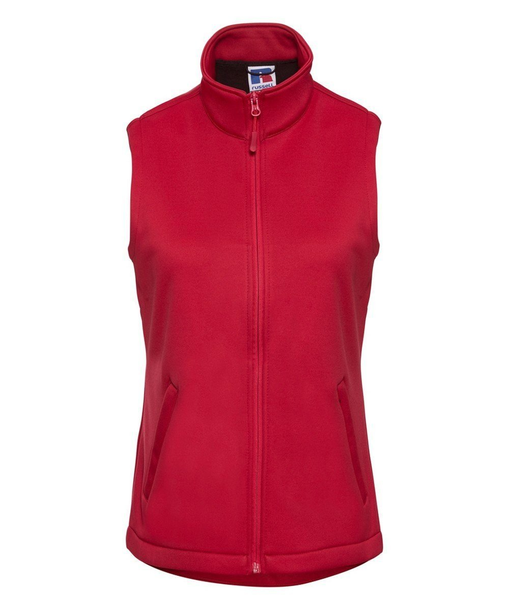 PPG Workwear Russell Ladies Smart Softshell Gilet R041F Red Colour