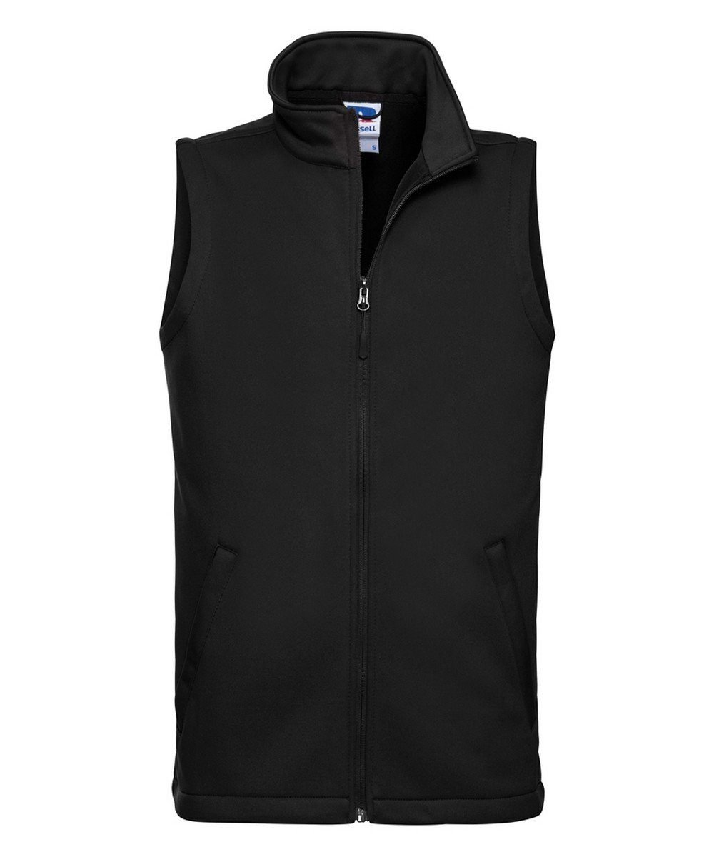 PPG Workwear Russell Mens Smart Softshell Gilet R041M Black Colour