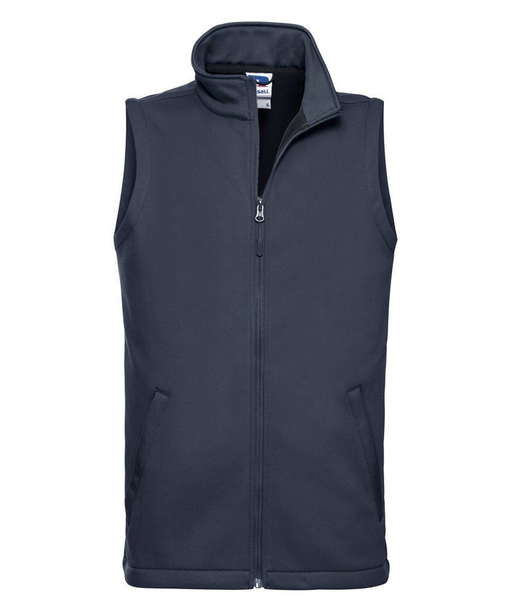 PPG Workwear Russell Mens Smart Softshell Gilet R041M French Navy Colour