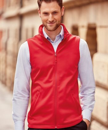 PPG Workwear Russell Mens Smart Softshell Gilet R041M Red Colour