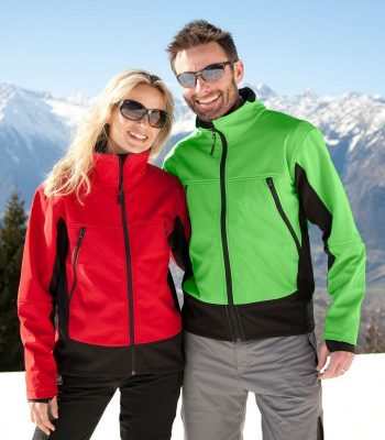 PPG Workwear Result Softshell Activity Jacket R120X Red and Green Jackets