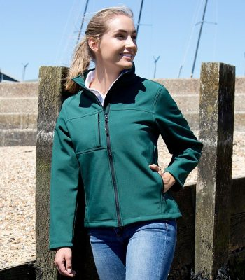 PPG Workwear Result Classic Ladies Softshell Jacket R121F Bottle Green Colour