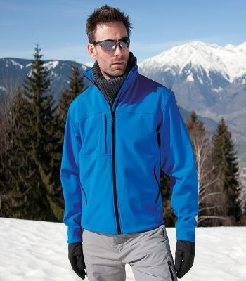 PPG Workwear Result Classic Mens Softshell Jacket R121M Azure Blue Colour