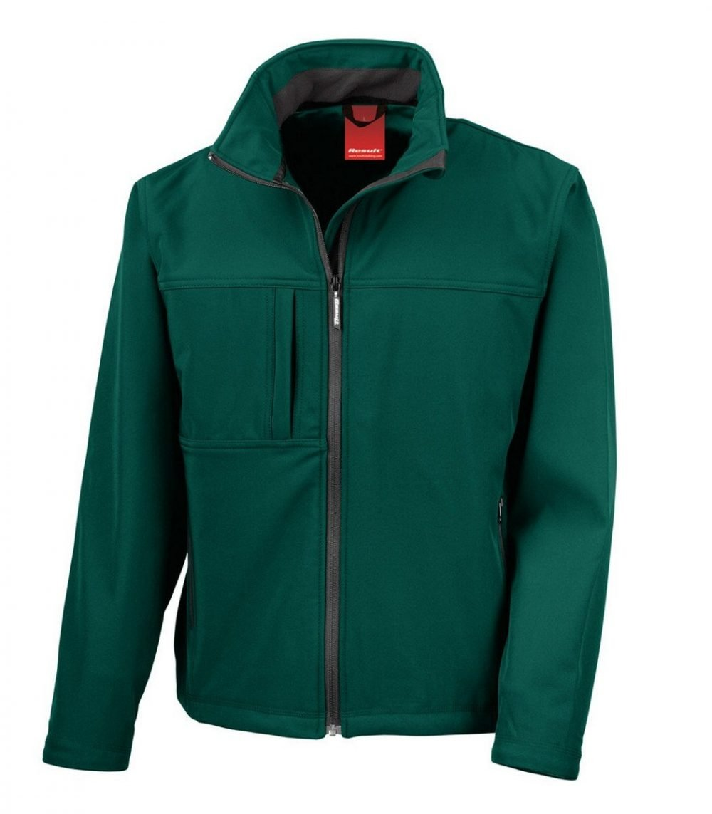 PPG Workwear Result Classic Mens Softshell Jacket R121M Bottle Green Colour