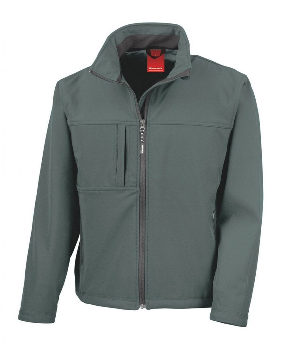 PPG Workwear Result Classic Mens Softshell Jacket R121M Grey Colour