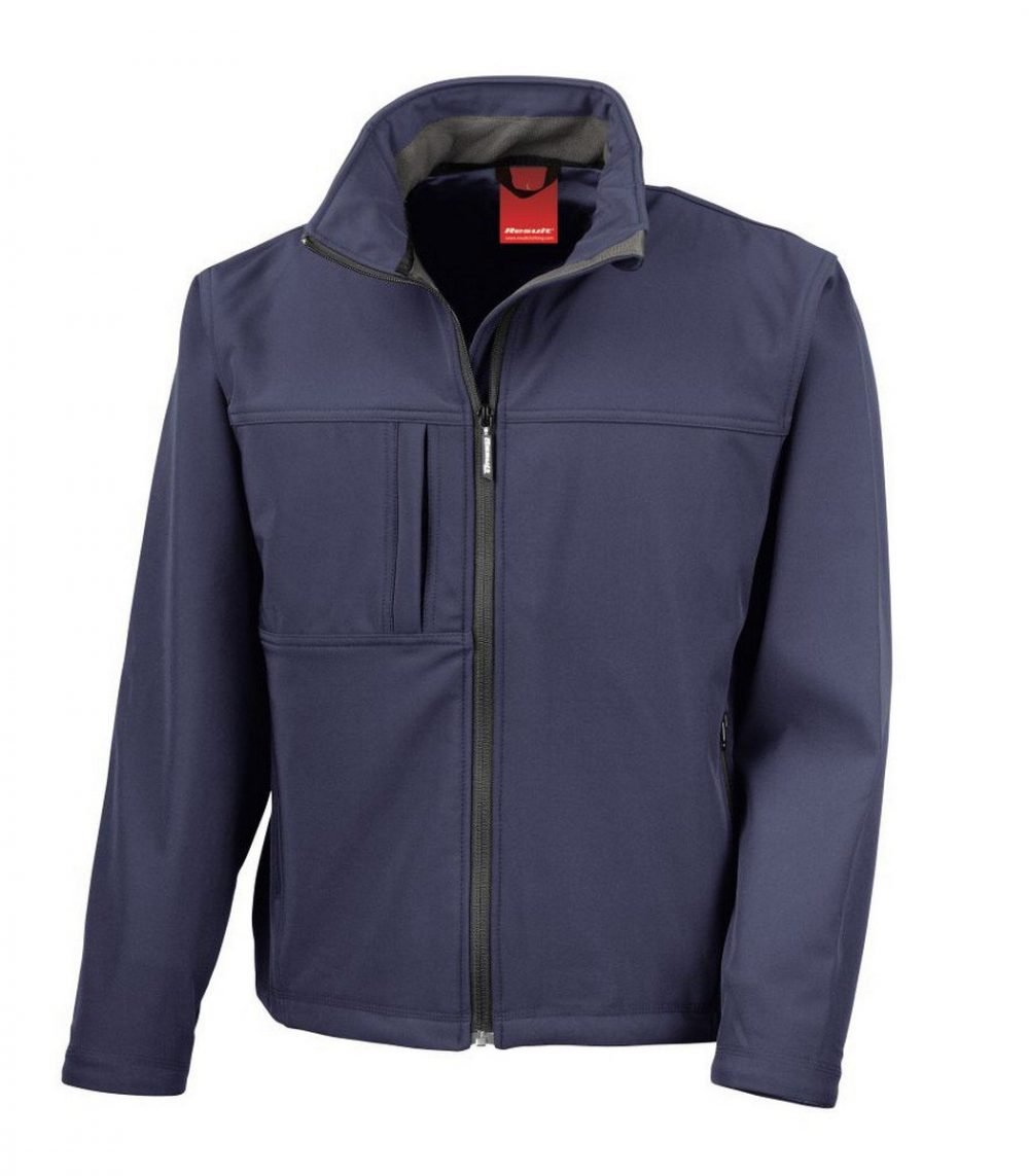 PPG Workwear Result Classic Mens Softshell Jacket R121M Navy Blue Colour