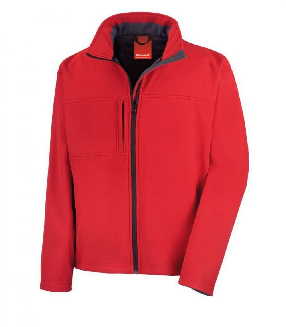 PPG Workwear Result Classic Mens Softshell Jacket R121M Red Colour