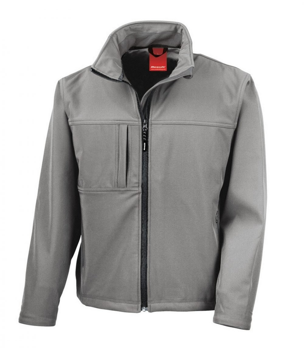 PPG Workwear Result Classic Mens Softshell Jacket R121M Workguard Grey Colour