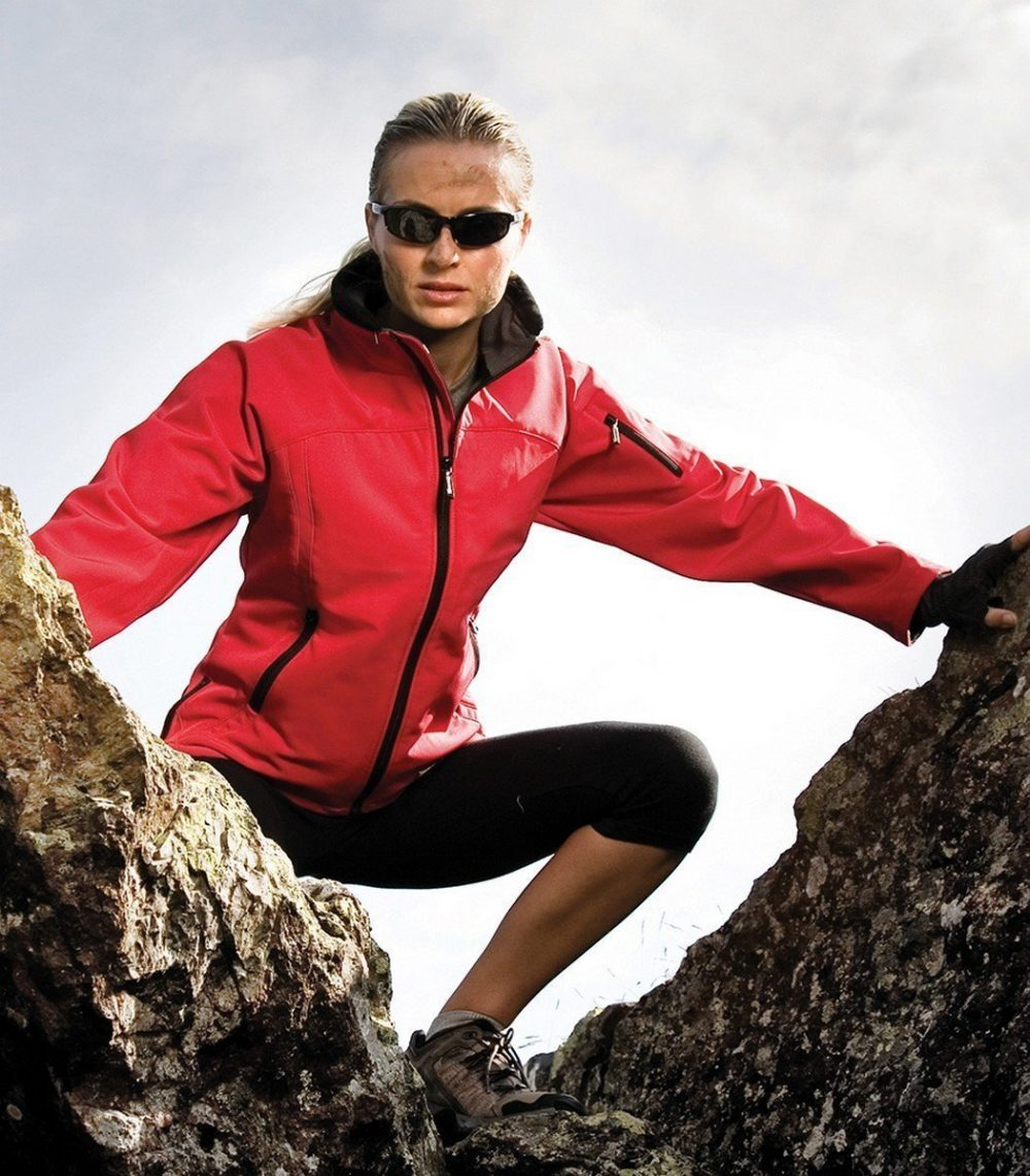 PPG Workwear Result La Femme Softshell Jacket R122F Red Colour