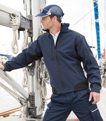 PPG Workwear Result Ripstop Workwear Softshell Jacket R124X Navy Blue Colour