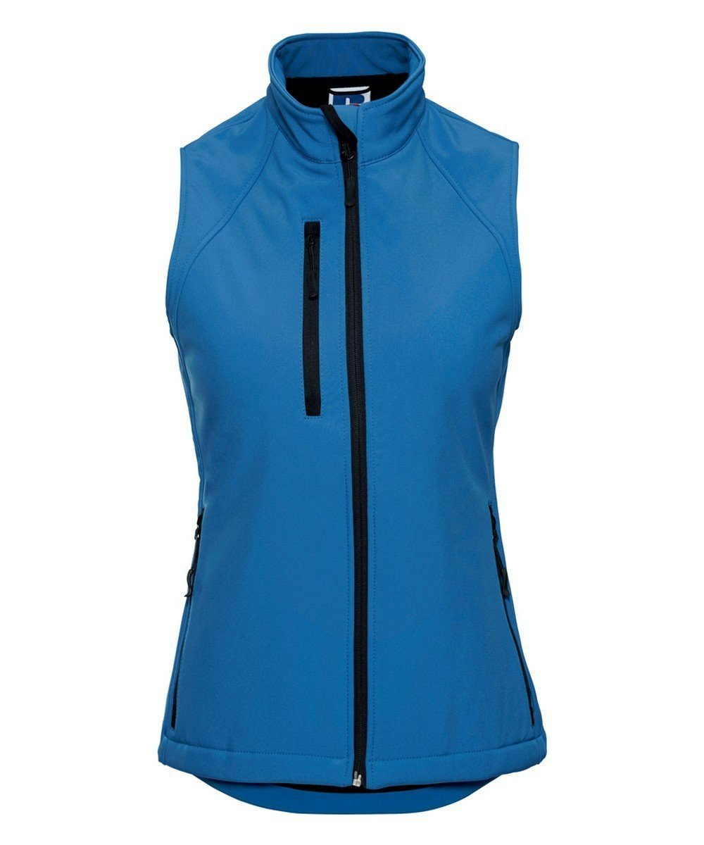 PPG Workwear Russell Ladies Soft Shell Gilet R141F Azure Blue Colour