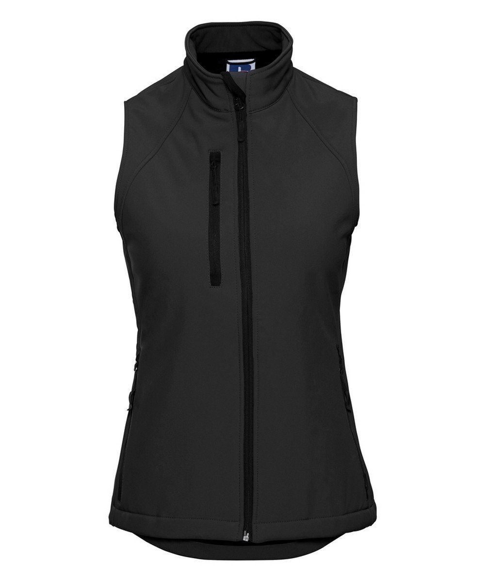 PPG Workwear Russell Ladies Soft Shell Gilet R141F Black Colour