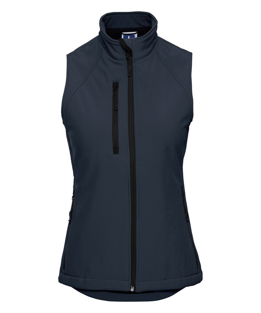 PPG Workwear Russell Ladies Soft Shell Gilet R141F French Navy Colour