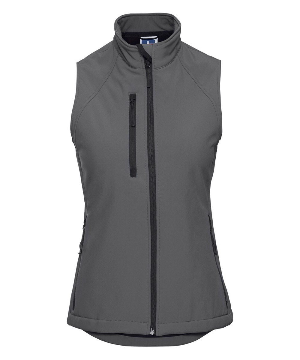 PPG Workwear Russell Ladies Soft Shell Gilet R141F Grey Colour