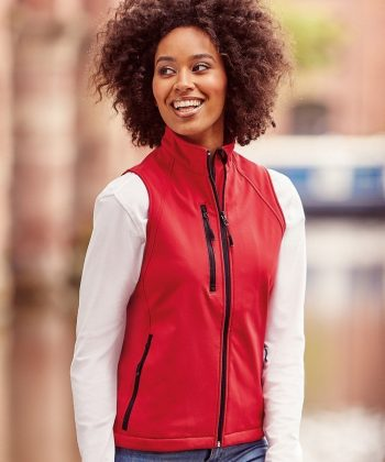 PPG Workwear Russell Ladies Soft Shell Gilet R141F Red Colour