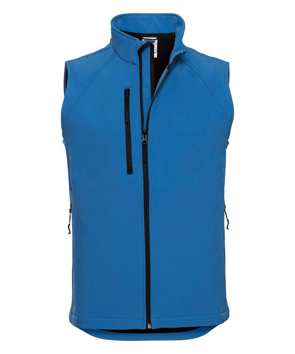 PPG Workwear Russell Mens Soft Shell Gilet R141M Azure Blue Colour
