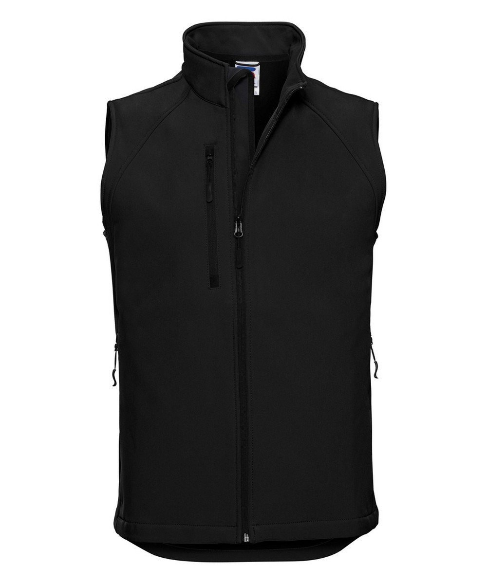 PPG Workwear Russell Mens Soft Shell Gilet R141M Black Colour