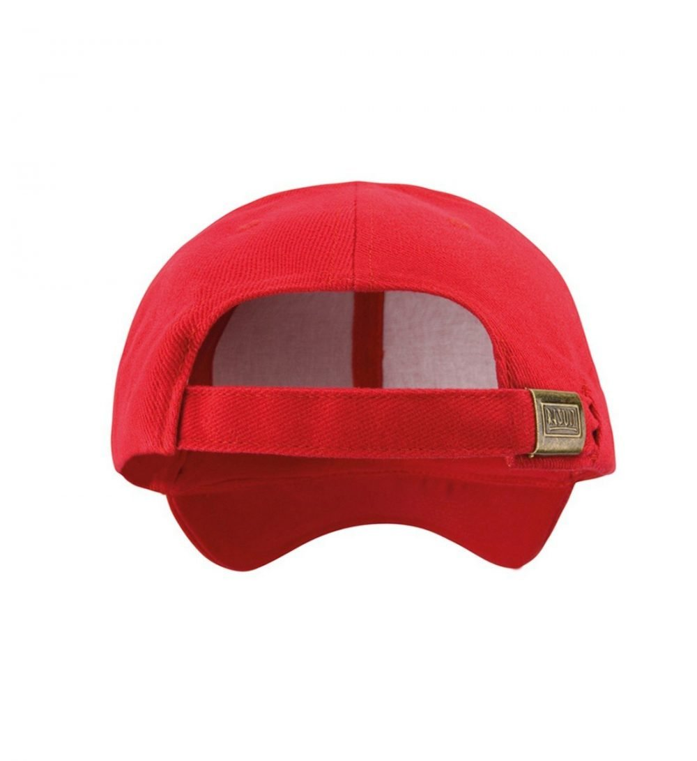 Result Pro Style Heavy Brushed Cotton Cap RC25 Red Colour Back View