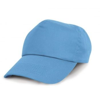 PPG Workwear Result Childrens Cotton Cap RC05J Sky Blue Colour