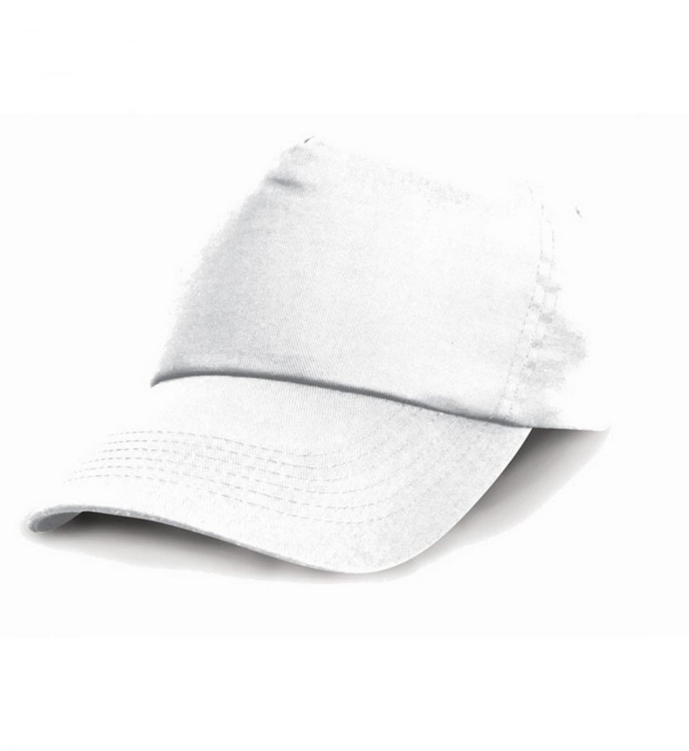 PPG Workwear Result Childrens Cotton Cap RC05J White Colour
