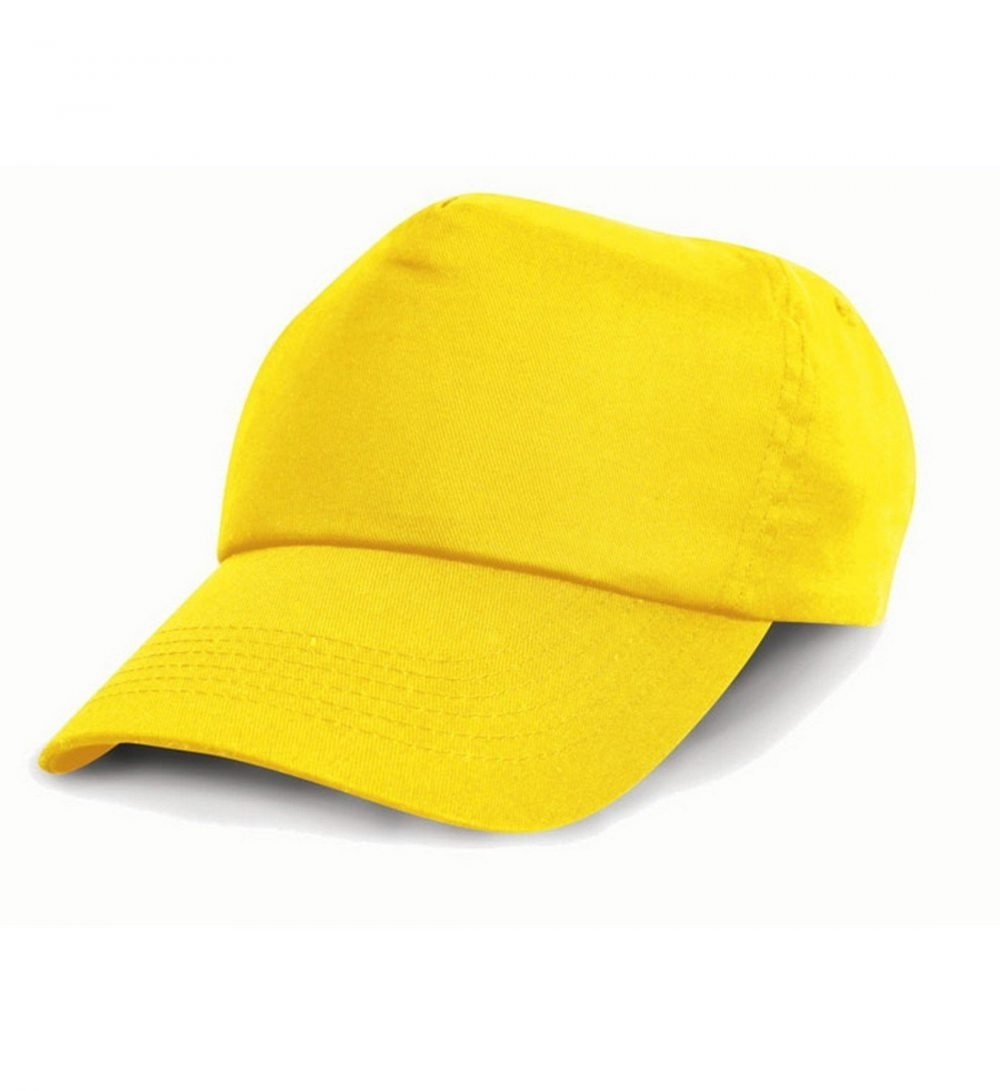 PPG Workwear Result Childrens Cotton Cap RC05J Yellow Colour