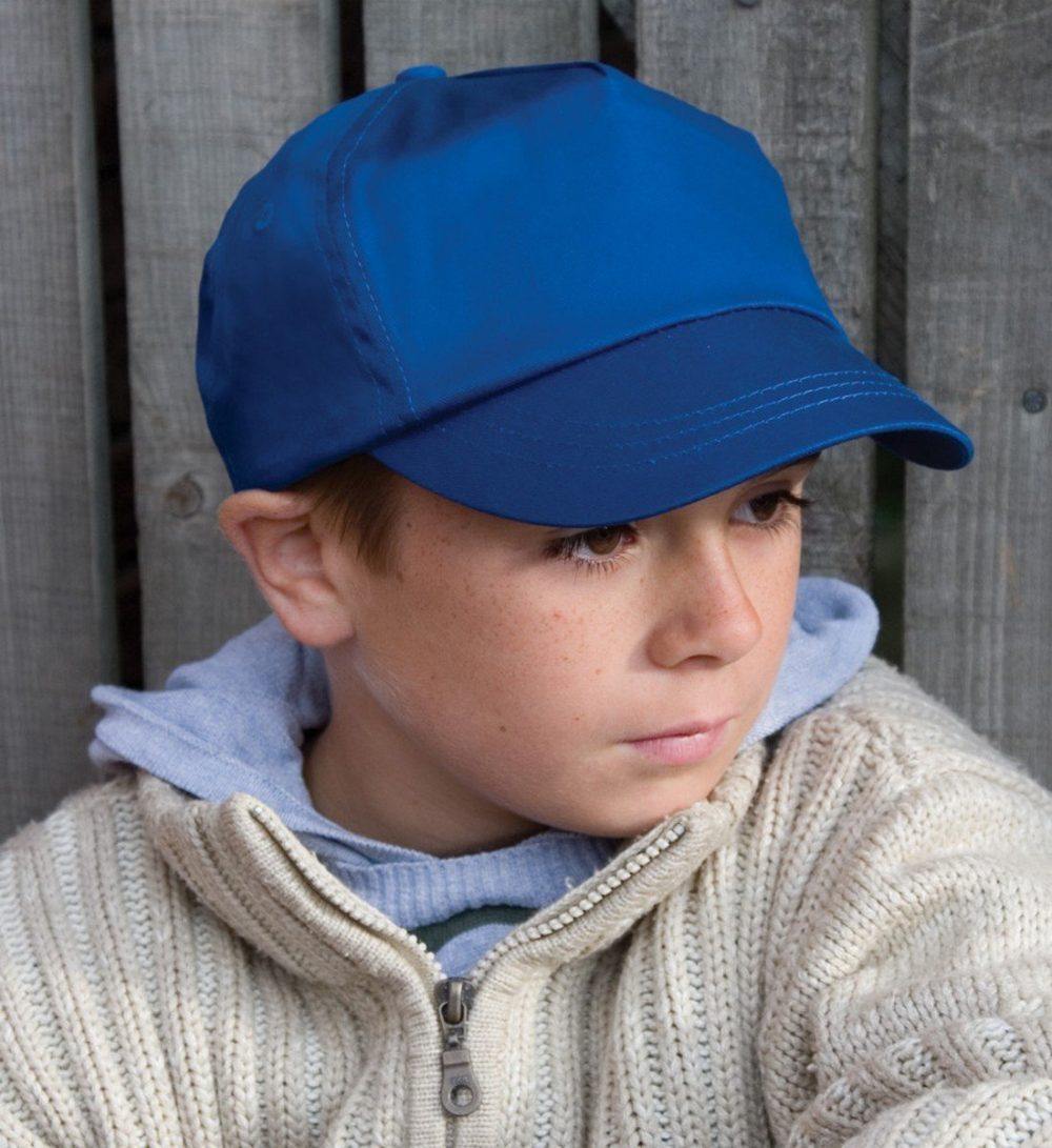PPG Workwear Result Childrens Cotton Cap RC05J Model Wearing Cap