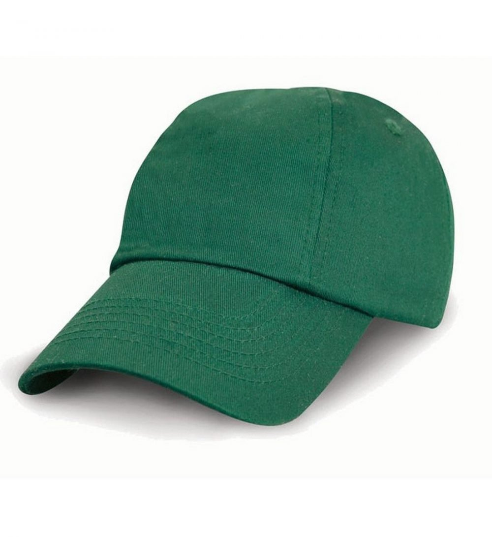PPG Workwear Result Childrens Low Profile Cotton Cap RC18J Bottle Green Colour