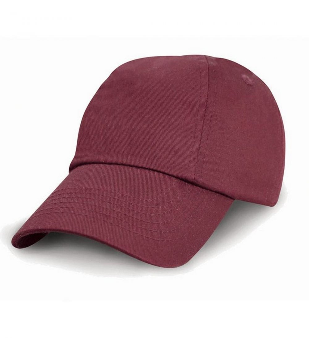 PPG Workwear Result Childrens Low Profile Cotton Cap RC18J Burgundy Colour