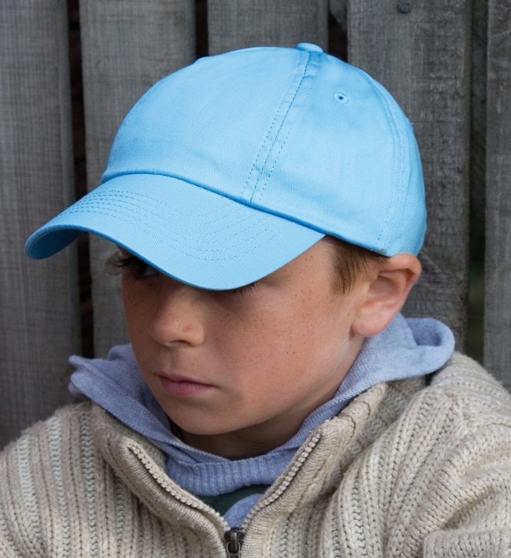 PPG Workwear Result Childrens Low Profile Cotton Cap RC18J Model Wearing Cap