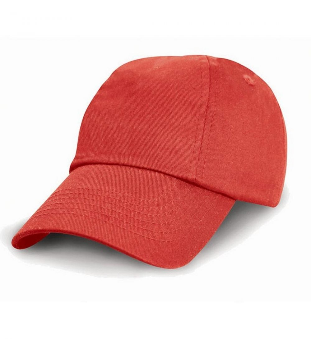 PPG Workwear Result Childrens Low Profile Cotton Cap RC18J Red Colour