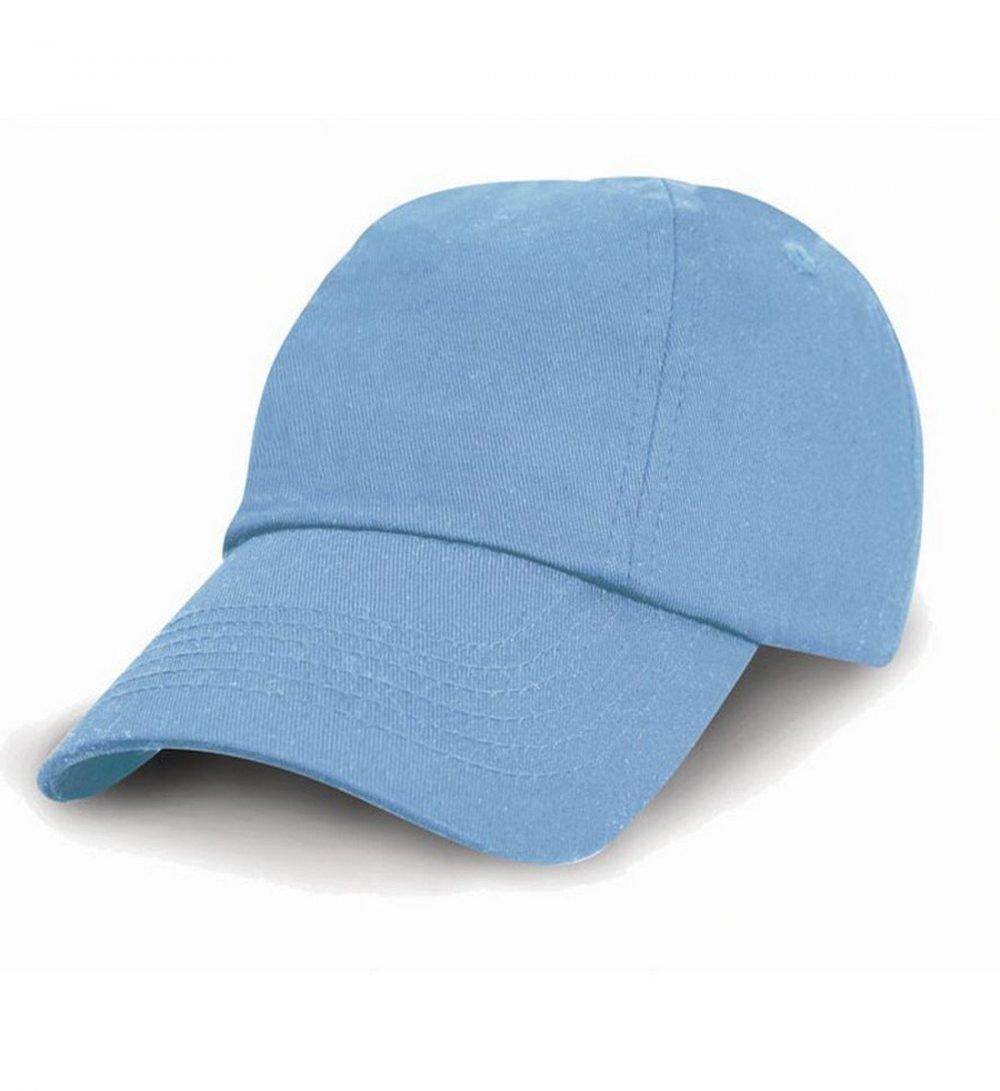 PPG Workwear Result Childrens Low Profile Cotton Cap RC18J Sky Blue Colour