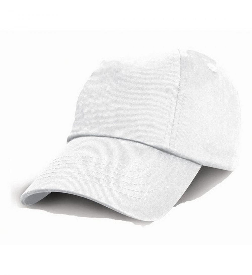 PPG Workwear Result Childrens Low Profile Cotton Cap RC18J White Colour