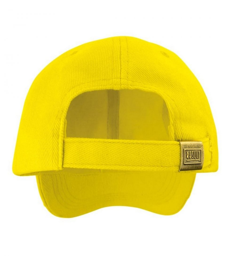 PPG Workwear Result Childrens Low Profile Cotton Cap RC18J Yellow Colour Back View