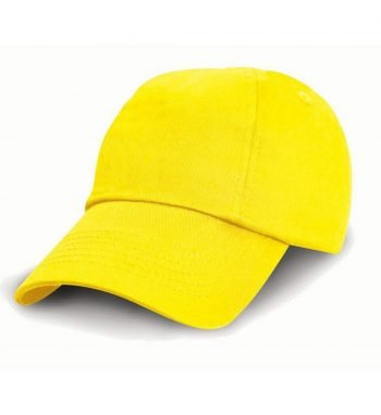 PPG Workwear Result Childrens Low Profile Cotton Cap RC18J Yellow Colour