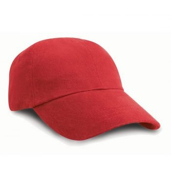 Result Childrens Low Profile Heavy Brushed Cotton Cap RC24J Red Colour