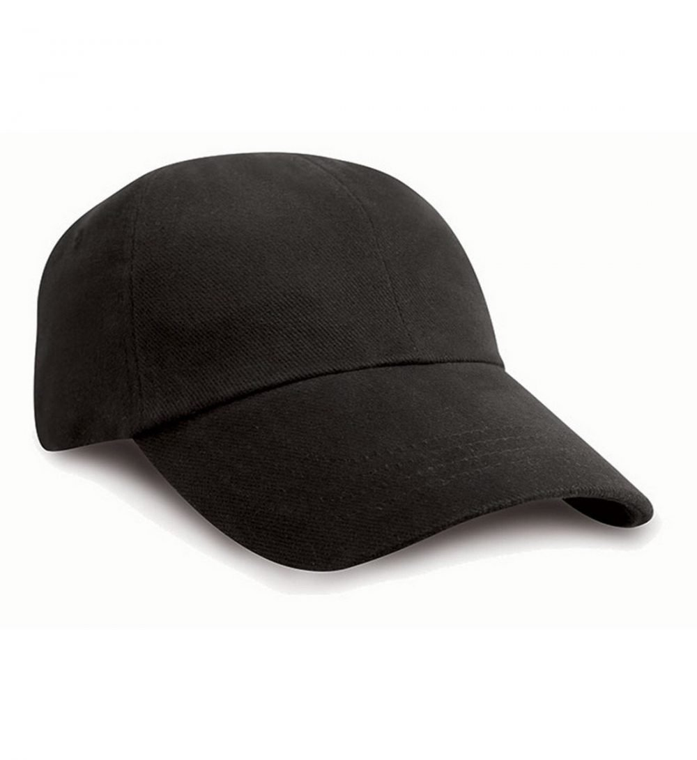 PPG Workwear Result Low Profile Heavy Brushed Cotton Cap RC24 Black Colour
